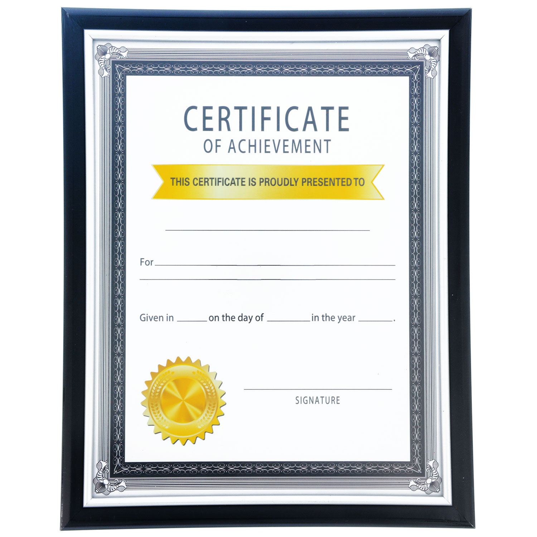Dollartreecom Bulk Bulk Black Plastic Document Frames With Silver