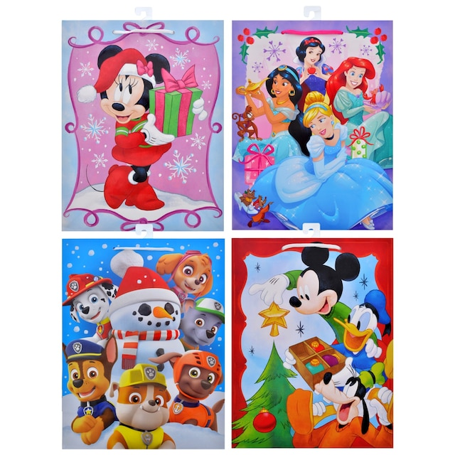 large licensed character christmas gift bags