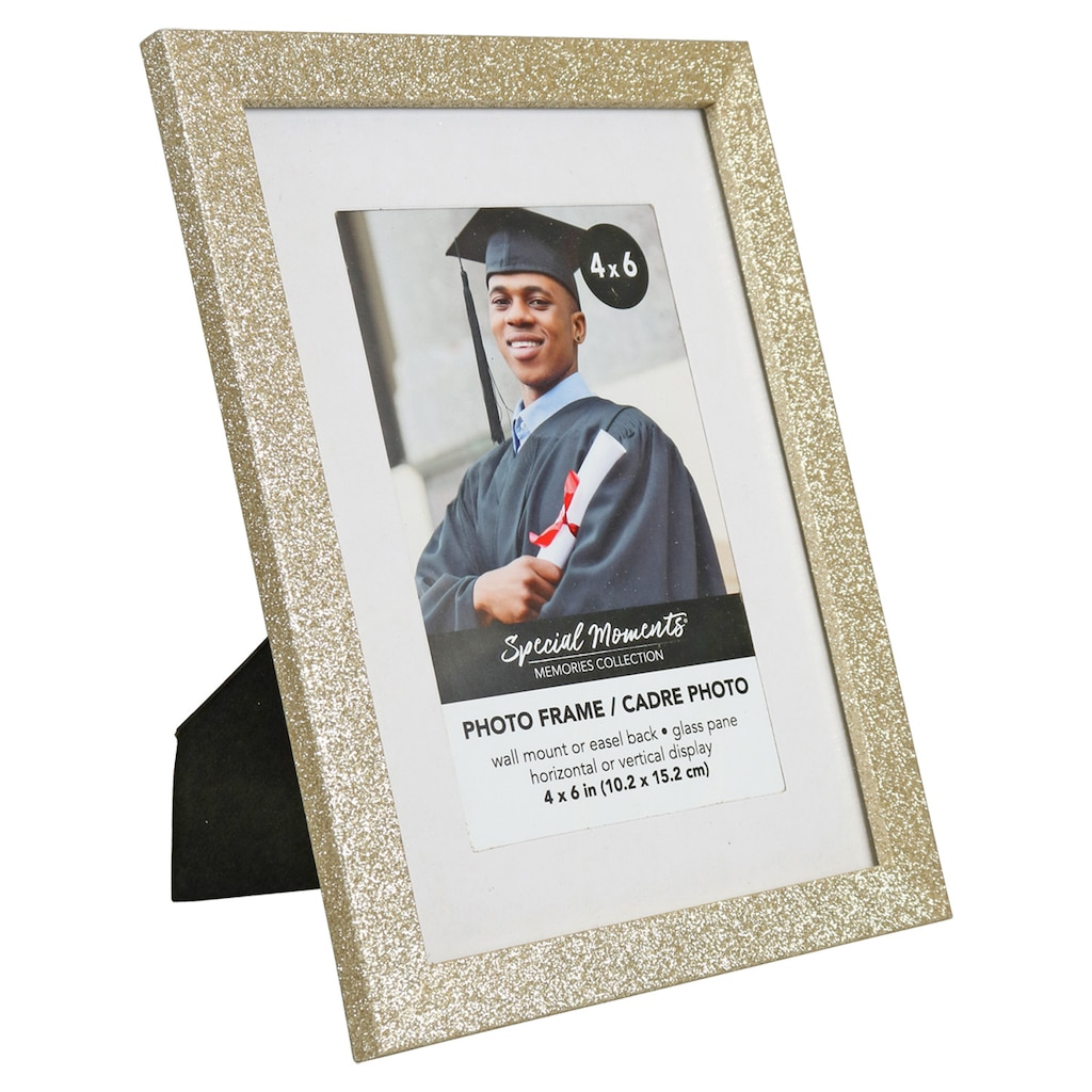 0b8348ae7e62 Special Moments Glitter Gold Picture Frames