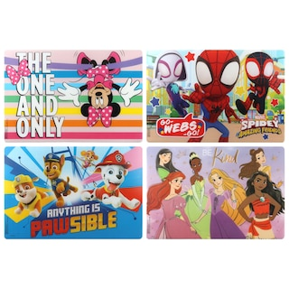 Dollartree Com Licensed Character Plastic Placemats