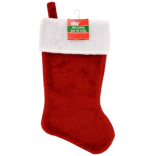 View Christmas House Plush Red Stockings, 18 in.