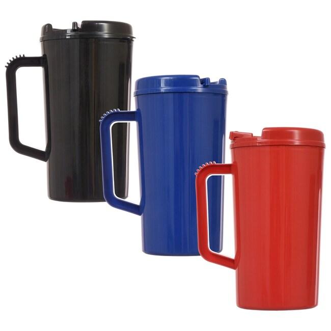 Dollartreecom Bulk Bulk Plastic Travel Mugs With Handles 345 Oz