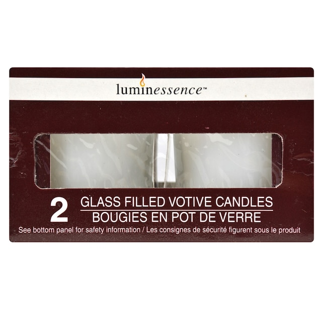 Dollartreecom Bulk Luminessence Poured Glass Votive Candles 2 Ct