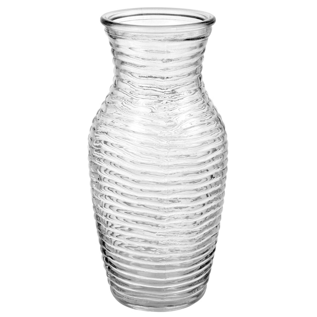 Dollartree Clear Wavy Glass Bouquet Vases 7 58
