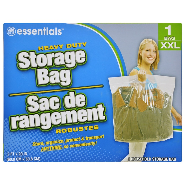 Essentials Large Plastic Storage Bags With Handles 3 Ct Packs
