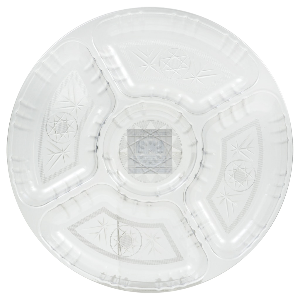eed315ae32c Clear Plastic Crystal-Cut Chip and Dip Trays