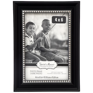 Special Moments Black Plastic Picture Frames With Silver Trim 4x6 In