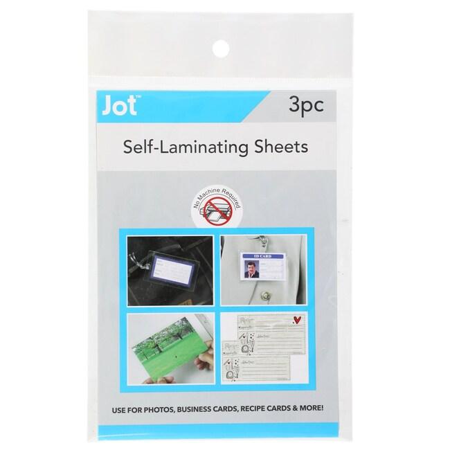 Jot Instant Self-Laminating Sheets, 3-ct  Packs