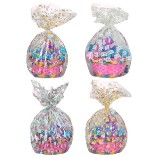 Easter-Themed Poly Basket Bags, 2-ct. Packs