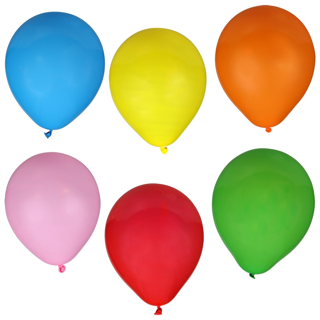 colorful latex balloons 25 ct bags