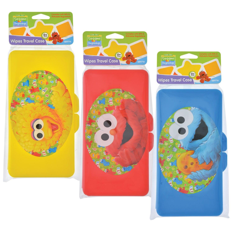 Sesame Street Sesame Beginnings Plastic Wipes Travel Cases