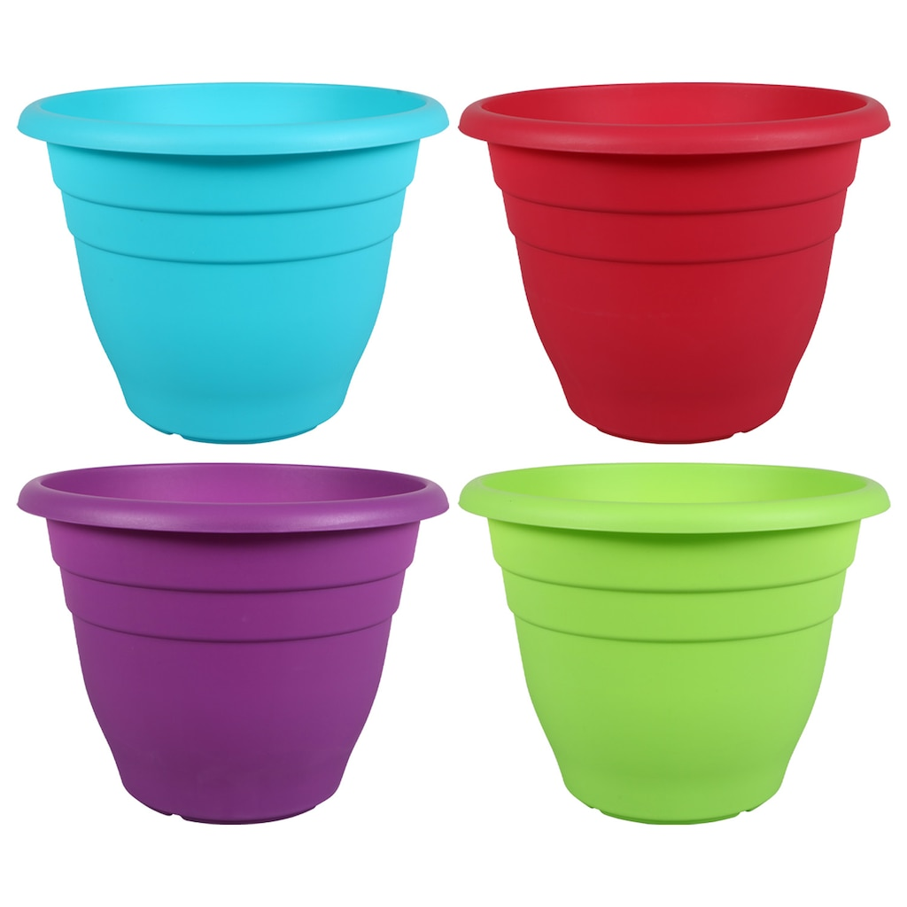 Display Product Reviews For Garden Collection Large Colorful Round Plastic Planters