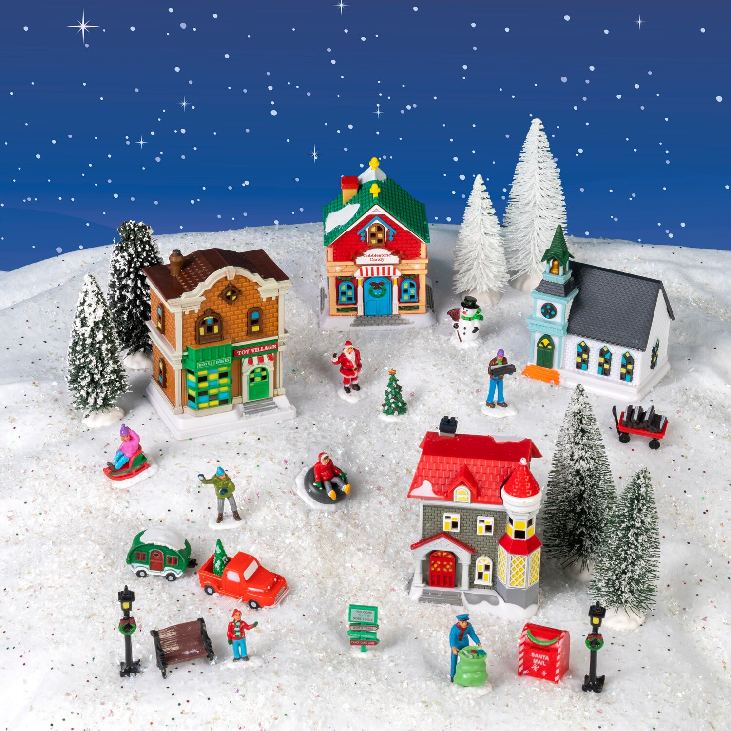 28-Piece Christmas Village Col...