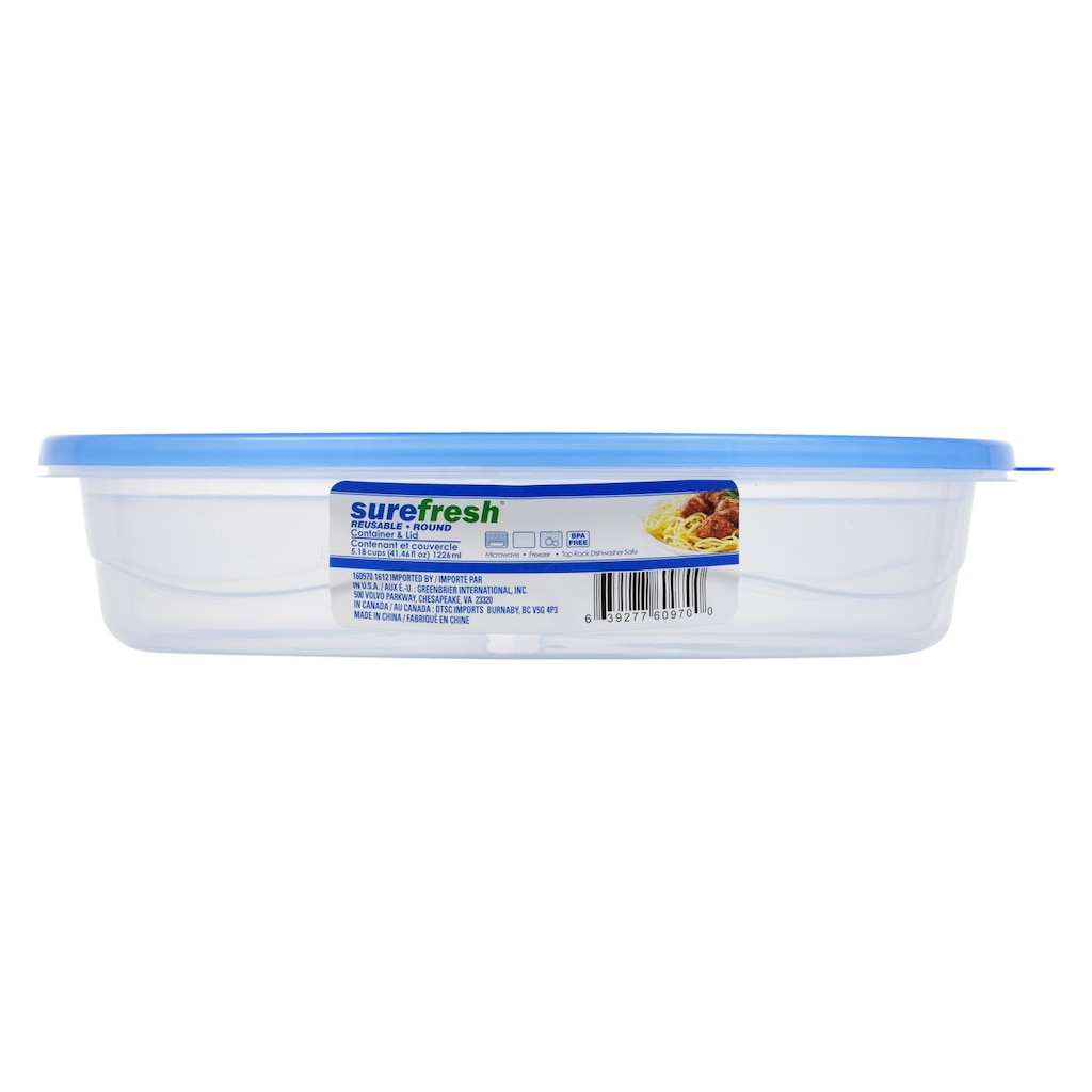 Round Plastic Divided Storage Containers With Lids 41 5 Oz