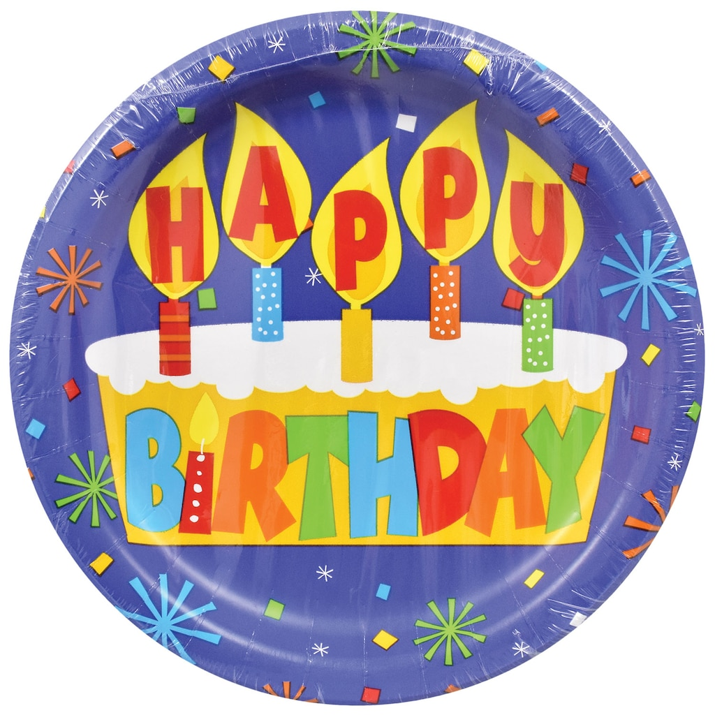 Display Product Reviews For Happy Birthday Paper Party Plates 9 In 18 Ct