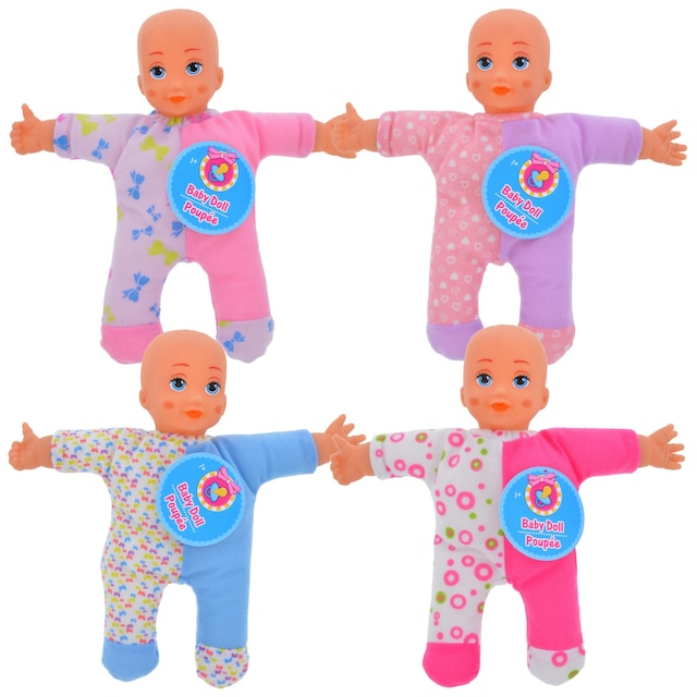 Dollartree Com Bulk Plush Polyester Baby Dolls 9 In