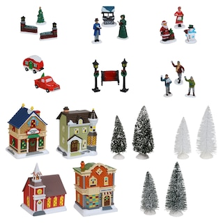 Cobblestone Corners Christmas Village Collection Dollar Tree