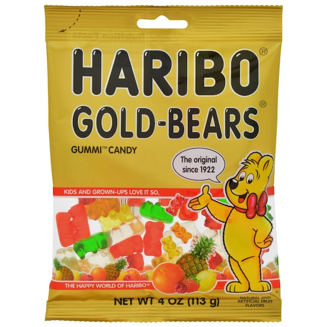 Haribo Gold Bears Gummi Cans 4 Oz Bags