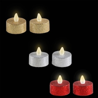 View Luminessence Glittery Round LED Tealights