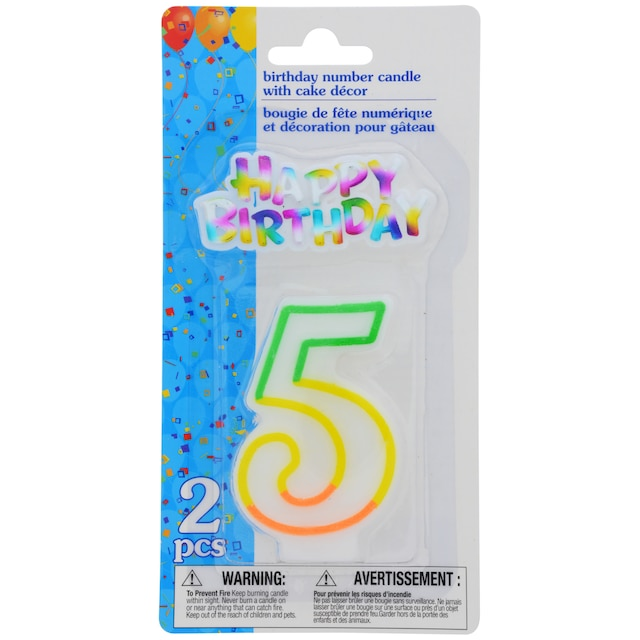 View Number 5 Birthday Candles With