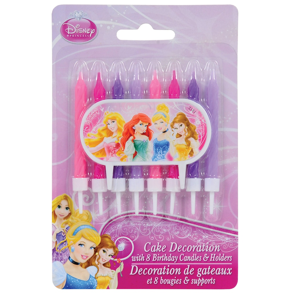 Disney Princesses Birthday Candles With Cake Decor 9 Ct Sets