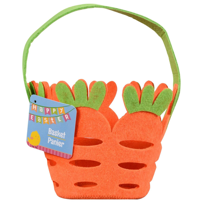 Carrot-Shaped Felt Baskets