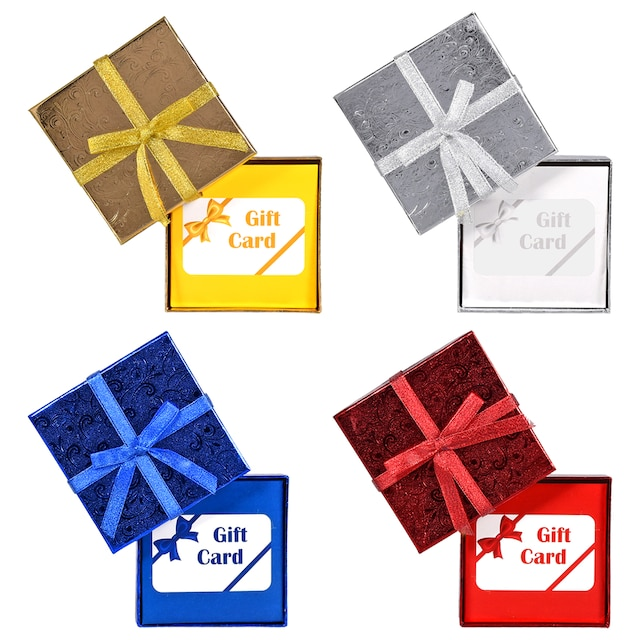 Voila Foil Gift Card Holders With Ribbons