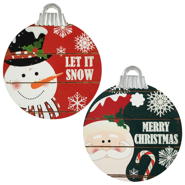 Bulk Christmas Ornaments.Christmas House Hanging Ornament Shaped Christmas Character Signs 10 25 In