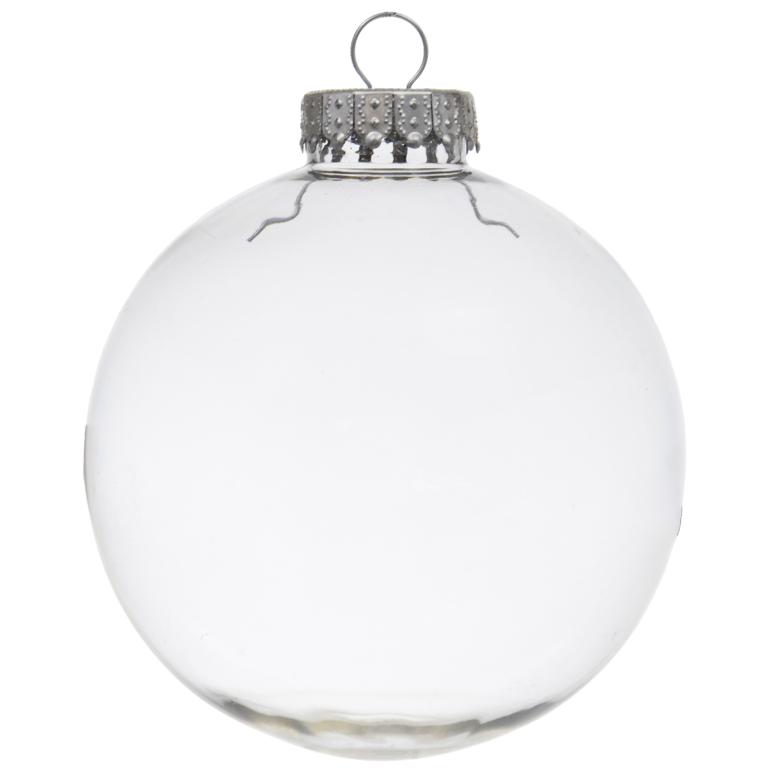 Crafter's Square Paintable Clear Plastic Christmas Balls, 4 in.