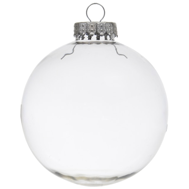 Clear Christmas Ornaments.Crafter S Square Paintable Clear Plastic Christmas Balls 4 In