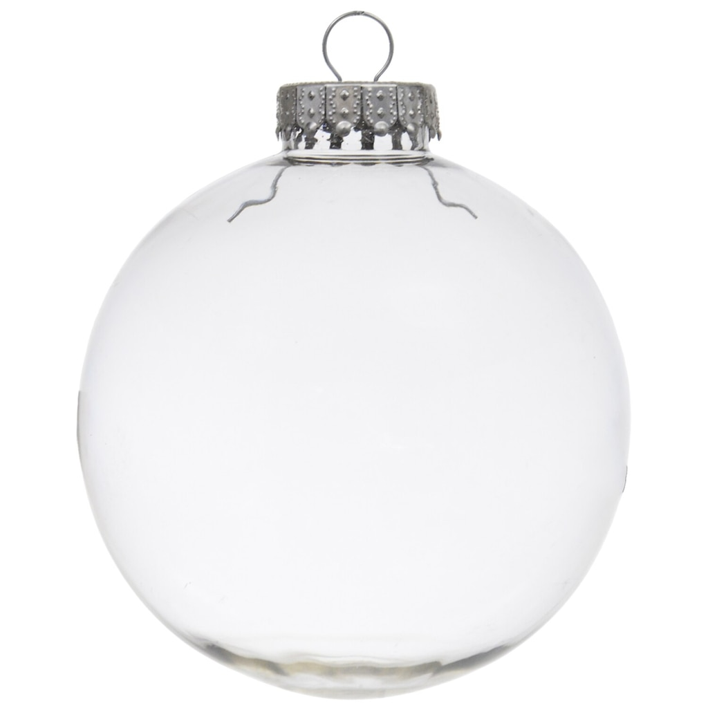 crafters square paintable clear plastic christmas balls 4 in