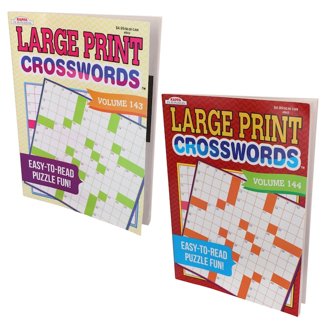Kappa Large Print Crossword Puzzle Books 112 Pages