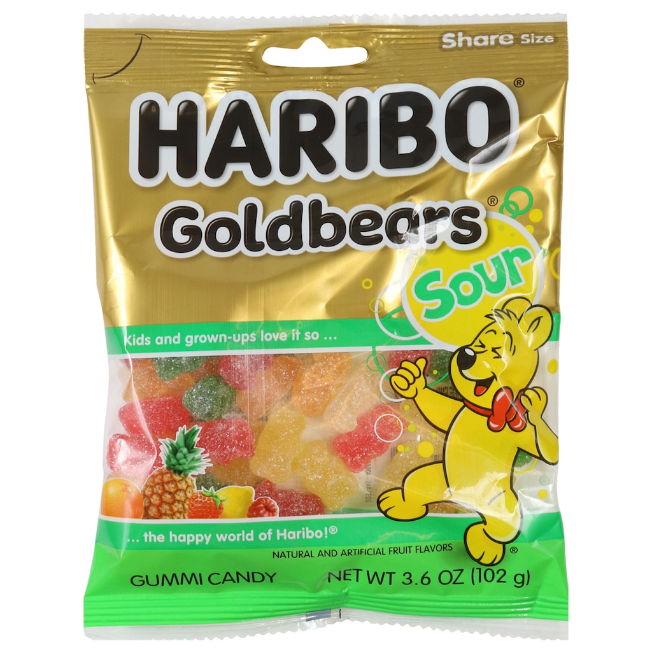 Haribo Sour Gold-Bears Gummi Candies, 3.6 oz. Bags