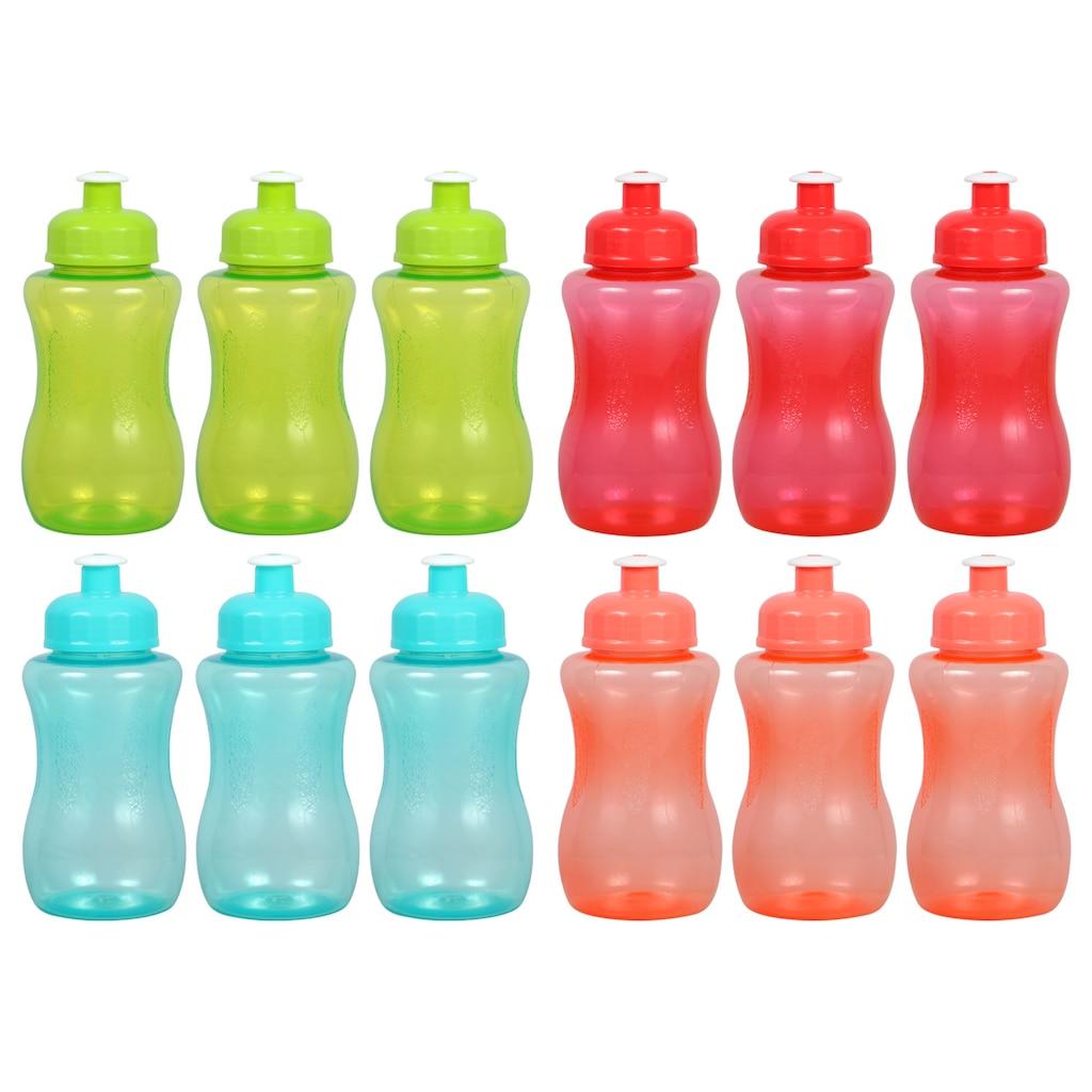 ad2551c562 Display product reviews for Translucent Colorful Plastic Water Bottles with  Pull-Top Spouts, 9.5