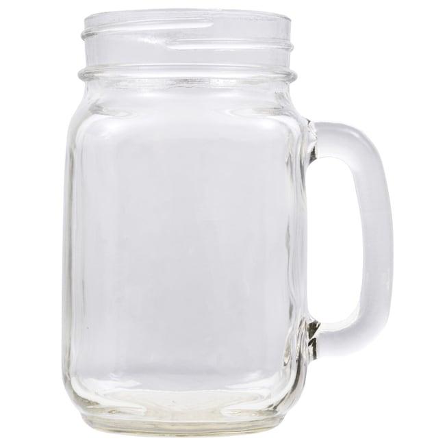 Glass Pint Jar Mugs, 16 oz