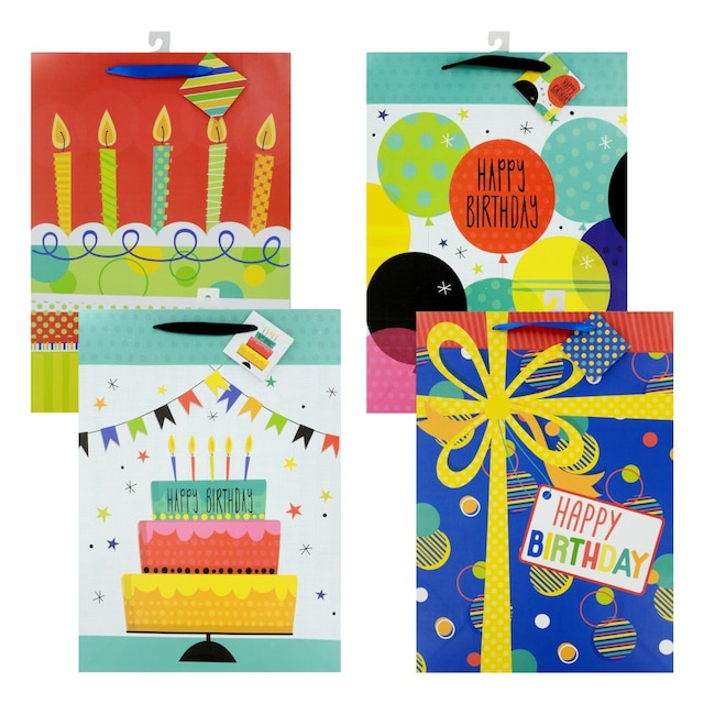 Voila Extra Large Whimsical All Ages Birthday Gift Bags