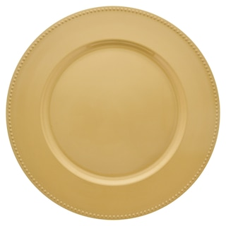 Dollartreecom Bulk Gold Plastic Charger Plates With Beaded Rims