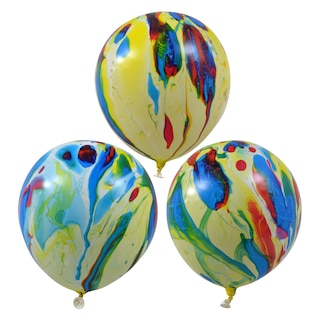 View Colorful Marble Latex Balloons 10 Ct