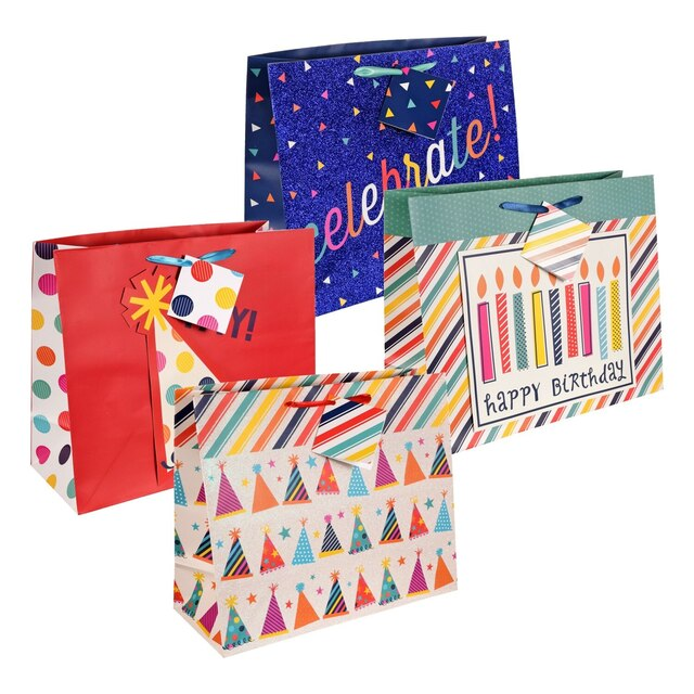 Voila Happy Birthday Gift Bags 12 In
