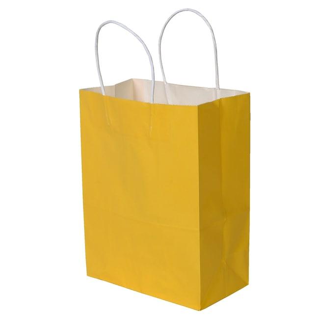 Medium Yellow Kraft Paper Gift Bags 2 Ct Packs