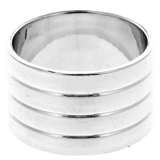 Round Silver Plastic Napkin Rings, 6-ct. Packs