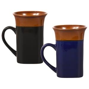 494eab8c2f8 View Square Two-Tone Flared-Rim Stoneware Mugs,