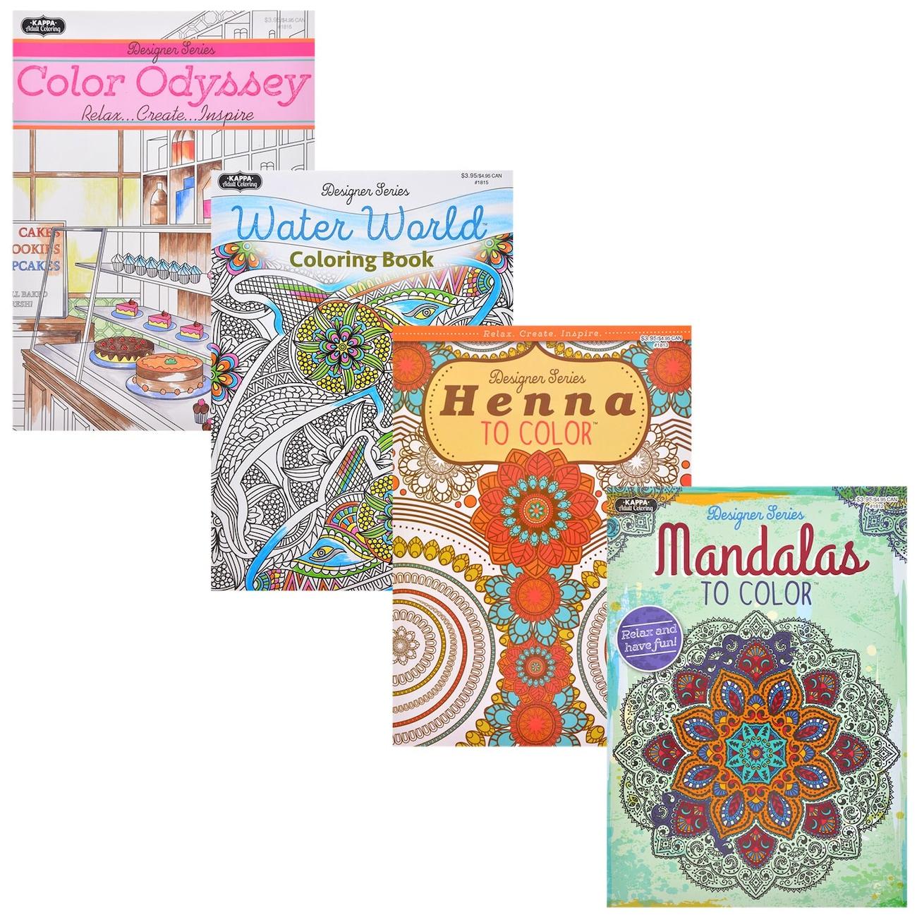 Display Product Reviews For Kappa Designer Series Adult Coloring Books