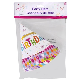 1ac02c3e DollarTree.com | Bulk Happy Birthday Butterfly Party Hats, 8-ct. Packs