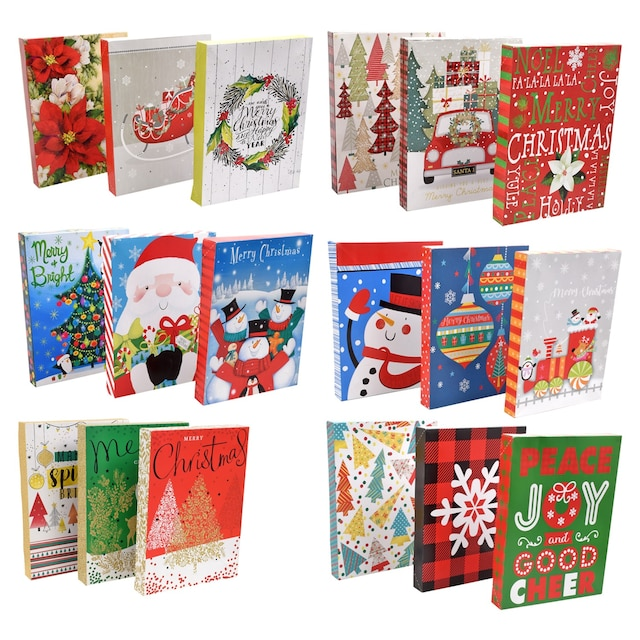 Christmas House Folded Gift Boxes 3 Ct Sets