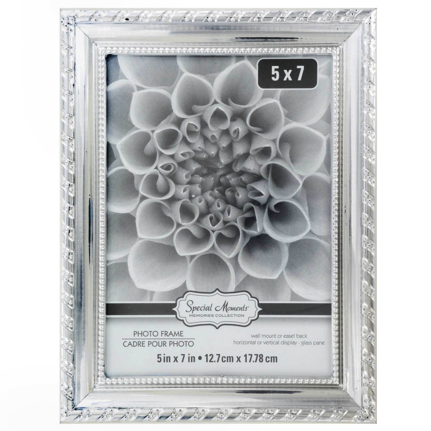 Special Moments Rope Design Silver Plastic Picture Frames 5x7 In