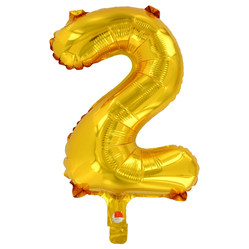 Number Balloons Dollar Tree Inc Baloon Kaleidoscope Brands Gold Foil 2 14 In