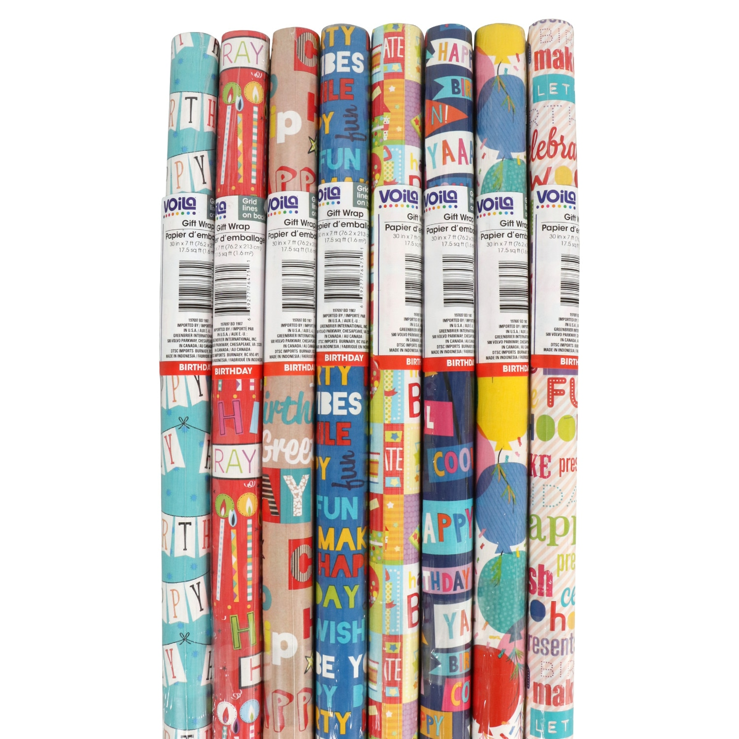 17.5 Sq Ft DINOSAUR Wrapping Paper  New