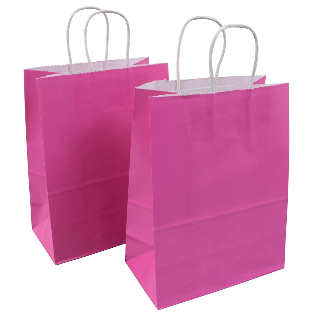 71e4ec377 Voila Candy Pink Glossy Medium Gift Bags, 8x10 in., 2-ct.