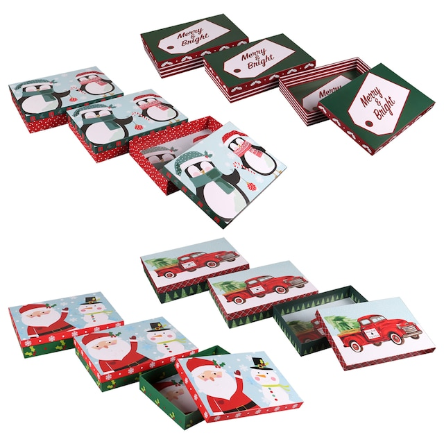Christmas House Printed Apparel Gift Boxes 3 Ct Packs